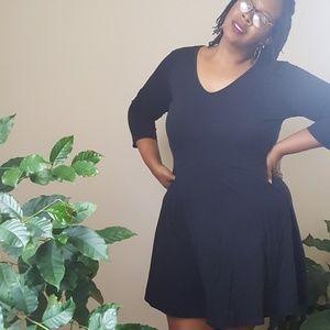 Mossimo Plus size black skater dress